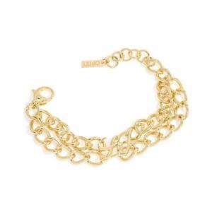 【送料無料】イタリアン ブレスレット ゴールドロゴカフbracciale donna liujo in ottone pvd oro con logo  lj595