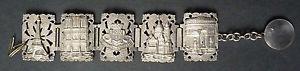 【送料無料】イタリアン ブレスレット ブレスレットエッフェルドパリエッフェルancien bracelet tour eiffel souvenir de paris vers 1930 eiffel tower