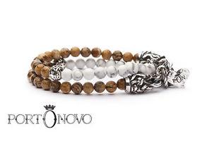 【送料無料】イタリアン ブレスレット カフストーンブラportonovo bracciale doppiogiro stone bra041023