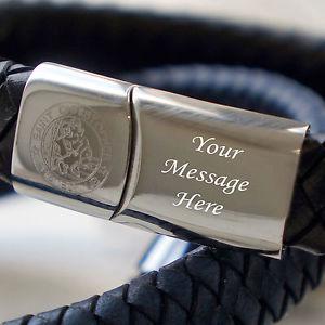 【送料無料】イタリアン ブレスレット サンクリストフォロメッセージブレスレットda uomo inciso san cristoforo messaggio braccialetto in pelle vari colori