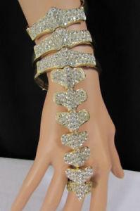 【送料無料】イタリアン ブレスレット ゴールドメタルファッションブレスレットバックボーンdonna metallo oro braccialetto moda catenella mano bling spina dor ossa