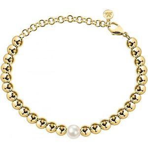 【送料無料】イタリアン ブレスレット ブレスレットビーズブレスレットbracciale morellato gioia sang17 perle perline oro dorato bracelet perla donna