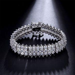 【送料無料】イタリアン ブレスレット テニスブレスレットホワイトゴールドブレスレットbracciale tennis donna 18k bracelet oro bianco con stellux cristalli aaa nuovo