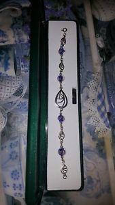 【送料無料】イタリアン ブレスレット シルバーバラガラスビーズインチカフ925 argento e hand made rose perle di vetro 7 pollici di lunghezza bracciale