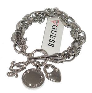 【送料無料】イタリアン ブレスレット ブレスレットロゴクールマルチbracelet guess femme chaine logo mdaillon cadenas coeur multi charms bjb0369