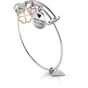 【送料無料】イタリアン ブレスレット スチールブレスレットドライブguess jewels bracciale in acciaio rigido con charms ubb85056 nuovo