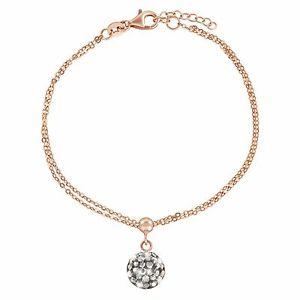 【送料無料】イタリアン ブレスレット シルバーミレニアルカフbracciale stroili in argento 925 rosato e cristalli millennials 1628407