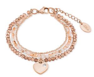 【送料無料】イタリアン ブレスレット オリバーブレスレットハートローズステンレススチールs oliver 2018356 donna bracciale cuore rose in acciaio inox nuovo