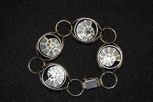 【送料無料】イタリアン ブレスレット ドイツテストgermania braccialeargento con goldammoniten, argento testato, 19,5cm