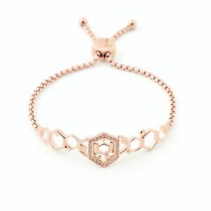 【送料無料】イタリアン ブレスレット ビルスキナーローズブレスレットbill skinner nuovo rose gold hexagon bee braccialetto dellamicizia