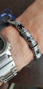 【送料無料】イタリアン ブレスレット ブレスレットケンゾーrare bracelet kenzo acier steel rare samoura lnib never used jamais port