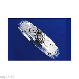 【送料無料】イタリアン ブレスレット シルバーハワイアンメタルブレスレットプルメリアスライドargento 925 hawaiano bracciale rigido plumeria scorrere bordi lisci 12mm