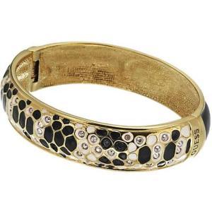 【送料無料】イタリアン ブレスレット メタルブレスレットスチールスワロフスキーbracciale rigido guess ubb81331 donna acciaio gold swarovski nero jewelry