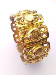 【送料無料】イタリアン ブレスレット ジョリーブレスレットビンテージjolie bracelet vintage plaqu or av35