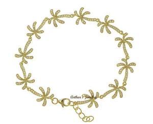【送料無料】イタリアン ブレスレット ハワイヤシブレスレットplaccato in oro giallo argento 925 hawaiano albero di palma braccialetto a