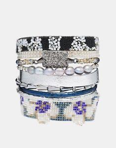 【送料無料】イタリアン ブレスレット タヒチビーズカフブレスレットサイズln hipanema tahiti con perline bracciale braccialetto taglia small