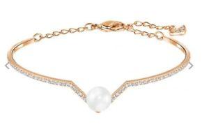 【送料無料】イタリアン ブレスレット スワロフスキーニコゴールドパールブレスレットメッキピンク¥swarovski nico pearl e bracciale in placcato in oro rosa rrp 75