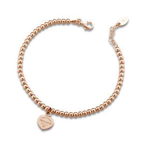 【送料無料】イタリアン ブレスレット カフトレスジョリーピンクゴールドbracciale donna tres jolie jewels sfere cuore in argento 925 oro rosa brtr0011r