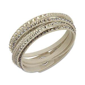 【送料無料】イタリアン ブレスレット スワロフスキーブレスレットデラックスベージュ*** *** swarovski slake bracelet deluxe gos beige