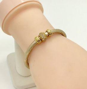 【送料無料】イタリアン ブレスレット ゴールドトーンブレスレットhenri bendel gold tone crystal magenetic bracciale, 615cm rrp 89