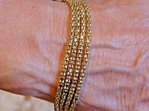 【送料無料】イタリアン ブレスレット ゴールドブレスレットポップコーンqvc 9ct oro bracciale popcorn