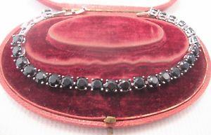 【送料無料】イタリアン ブレスレット ブラックサファイアブレスレットun bel nero zaffiro bracciale in argento