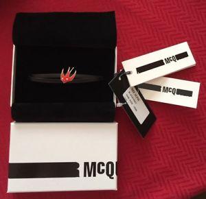 【送料無料】イタリアン ブレスレット アレキサンダーマックィーンミニブレスレットラップ¥mcq alexander mcqueen rondine mini wrap cuoio braccialetto rrp 75