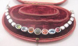 【送料無料】イタリアン ブレスレット シルバーマルチジェムブレスレットun bel multi gem bracciale in argento