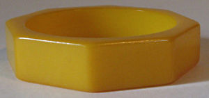 【送料無料】イタリアン ブレスレット ヴィンテージベークライトカラーメタルブレスレットvintage ottagonale butterscotch colore bachelite bracciale rigido