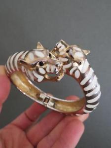 【送料無料】イタリアン ブレスレット ビンテージケネスジェイレーンカフブレスレットタイガーvintage kjl kenneth jay lane bracciale braccialetto tiger