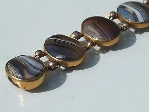 【送料無料】イタリアン ブレスレット ブレスレットプラークtres beau bracelet ancien milieu xixme en plaque or jaune avec agate lg 18,5cm