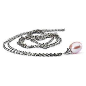 【送料無料】イタリアン ブレスレット ネックレスシルバーパールピンクtrollbeads original collana dargento con perla rosa tagfa0004900055