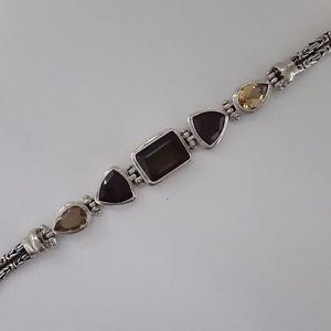 【送料無料】イタリアン ブレスレット クリエイションボーブレスレットアルジェントオルヌドagnes creations beau bracelet femme argent 925 orne de topaze grenat amp; quartz