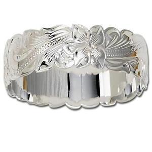 【送料無料】イタリアン ブレスレット ソリッドシルバーハワイアンプルメリアスライドメタルブレスレット28mm argento massiccio sterling 925 hawaiano plumeria scorrere bracciale rigido