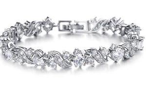 【送料無料】イタリアン ブレスレット プラチナブレスレットクリスマスbridal crystal 18k platino oro placcato bracciale regalo di natale alta qualit