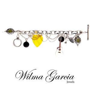 【送料無料】イタリアン ブレスレット ガルシアブレスレットwilma garcia lusso decorativa bracciale con charm