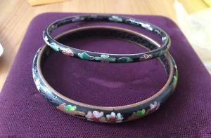 【送料無料】イタリアン ブレスレット ビンテージエナメルブレスレットブレスレットvintage cinese smalto fiore dellera maji braccialetto braccialetti set di 2