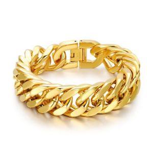 【送料無料】イタリアン ブレスレット ブレスレットステンレスゴールドシンメッシュgrande e braccialetto acciaio inossidabile dorato oro sottile maglie 225cm
