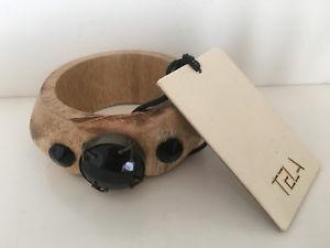 【送料無料】イタリアン ブレスレット カフブレスレットビーズnuova inserzionetela legno braccialetto bracciale cordone nero grande