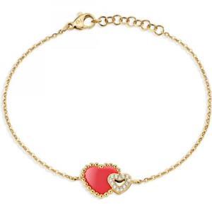【送料無料】イタリアン ブレスレット カフスチールゴールドbracciale donna morellato sempreinsieme sagf08 acciaio gold dorato cuore heart
