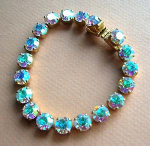 【送料無料】イタリアン ブレスレット ブレスレットメタルドール1252  bracelet strass 6 mm irises sur metal dore