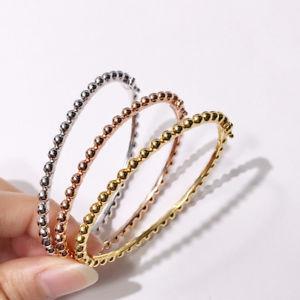 【送料無料】イタリアン ブレスレット メタルブレスレットフィンbracelet rigide ouvrable perle metal plaqu or 18k fin trt10