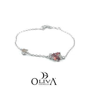 【送料無料】イタリアン ブレスレット ブレスレットシルバースワロフスキーosa bracciali donna argento 925 swarovski