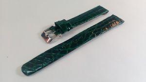 【送料無料】イタリアン ブレスレット ストラップクロコダイルクロックcinturino orologio coccodrillo in 15mm verde