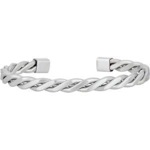 【送料無料】イタリアン ブレスレット スチールブレスレットbreil twine bracciale in acciaio lucido intrecciato tj2251