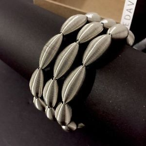 【送料無料】イタリアン ブレスレット ブレスレットロータススプリングピアノbracelet lotus la mollla la molla tiziana redavid piano wire jewelry