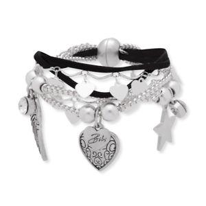 【送料無料】イタリアン ブレスレット ビビブラックスエードレザーブレスレットnuovo bibi bijoux neri in pelle scamosciata bracciale con charm
