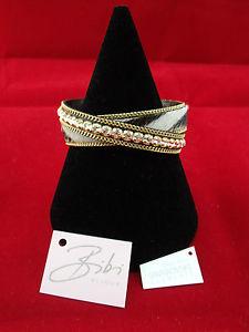 【送料無料】イタリアン ブレスレット ビビゼブラプリントラップカフラベルbibi bijoux zebra print wrap braccialenuova con etichetta