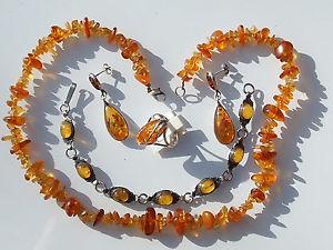 【送料無料】イタリアン ブレスレット ロットアンブルアルジェントブレスレットjoli lot de bijoux en ambre et argent bague, collier, bo et bracelet