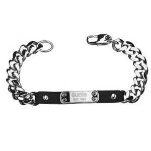 【送料無料】イタリアン ブレスレット ステンレスブレスレットguess steel braccialetto da uomo umb81012 acciaio inox, pelle